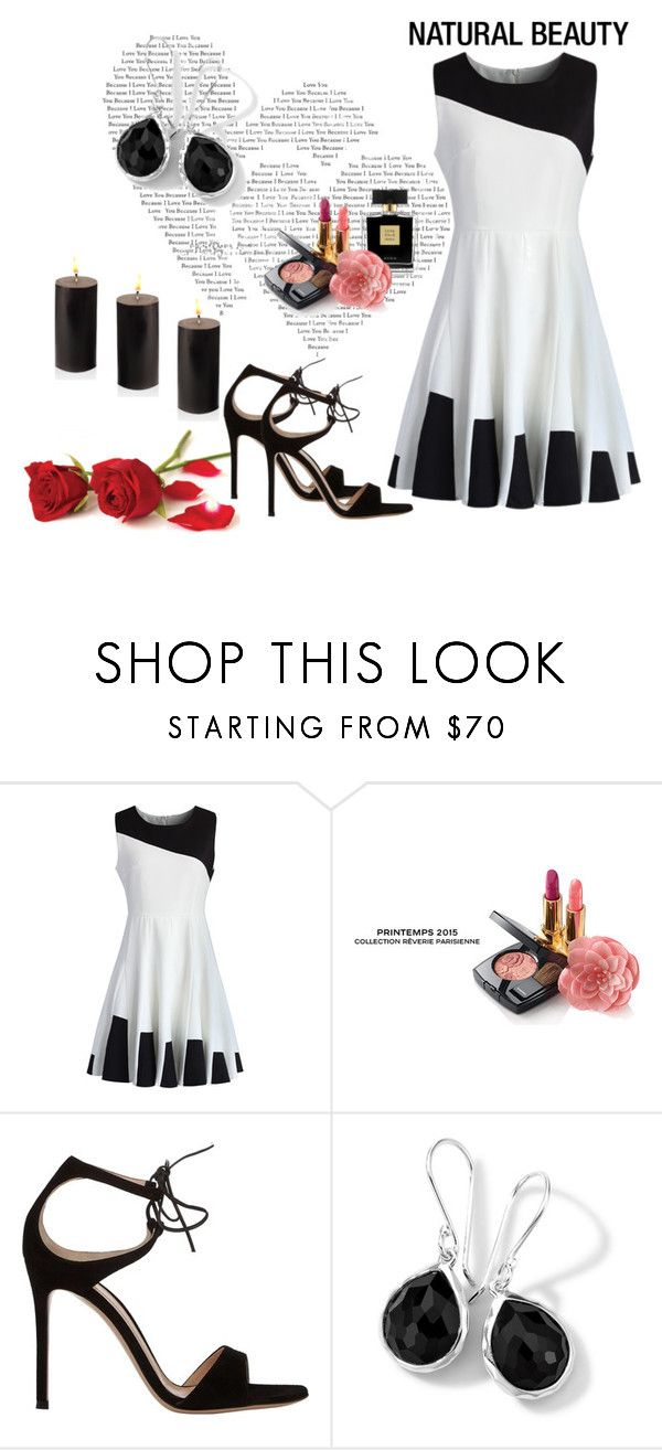 """""""Black and White skater dress"""" by dijana1786 ❤ liked on Polyvore featuring Chicwish, Avon, Chanel and Gianvito Rossi"""