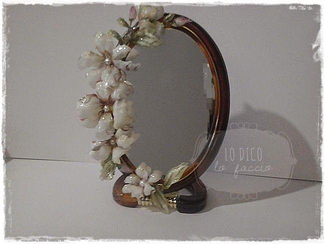 Specchio decorato con Sospeso Trasparente, regalo per l'amica del cuore