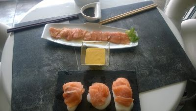myformulashon: Sashimi de Salmón a la Huancaina