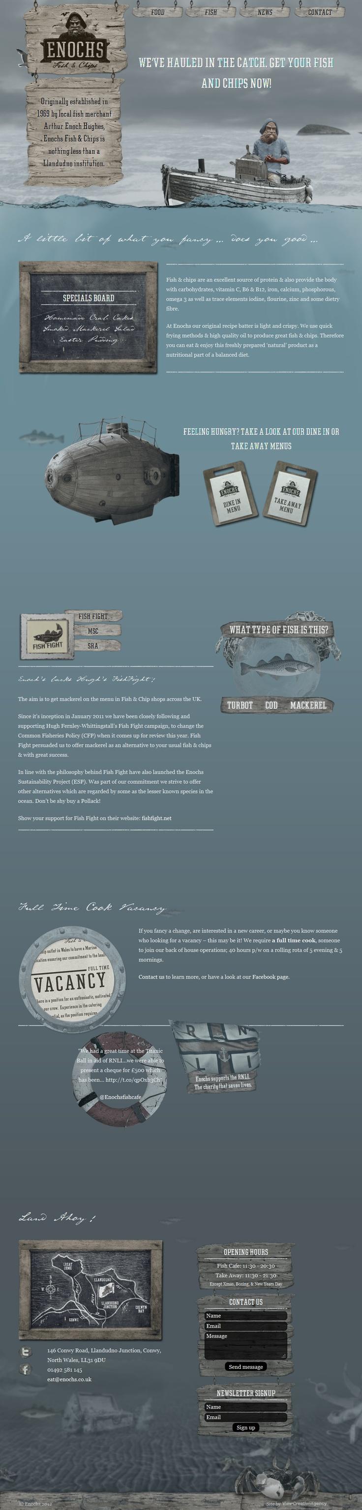 Unique Web Design, Enochs Fish  Chips #webdesign #design (http://www.pinterest.com/aldenchong/)