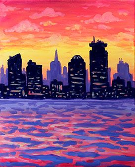 25 best ideas about sunset painting easy on pinterest for Wine and paint boston