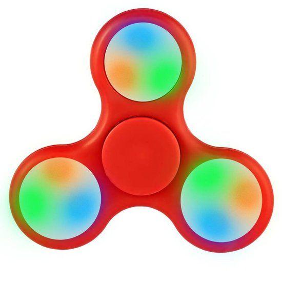 iParts4u Hand Spinner met LED verlichting Rood