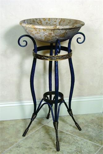 Yosemite Home Decor FIRESTINE-12 Material Iron 18 x 18 x 30. FIRESTINE-12 Yosemite Home Decors Firestine-12 stand is made of iron. This iron stand is made by human hands with some aid of tools to curl and twist the iron. The Firestine-12 iron stand has dimensions of 18 x 18 x 30. Beca.. . See More Sink Stands at http://www.ourgreatshop.com/Sink-Stands-C1060.aspx