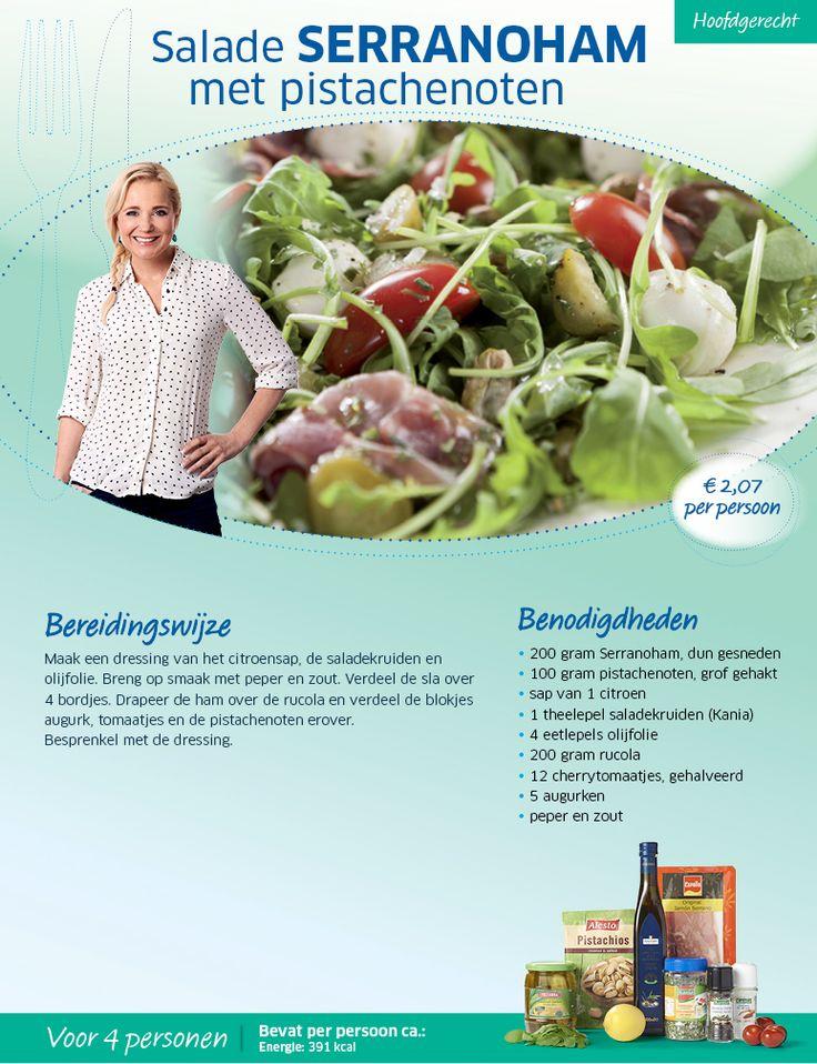 Salade Serranaham met pistachenoten