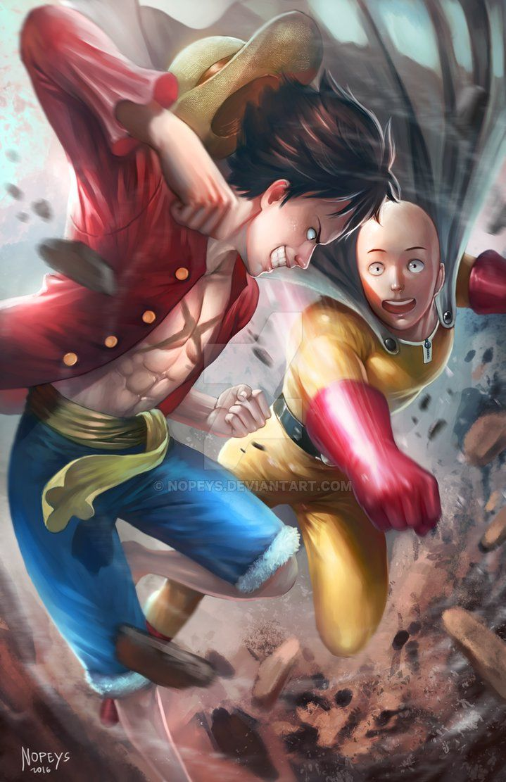 Saitama VS Luffy by NOPEYS on DeviantArt