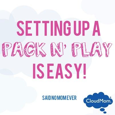 step-by-step instructions on how to set up a Pack N' Play by Graco. #