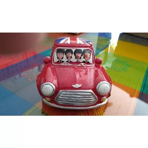 Mini Cooper Rojo The Beatles Pasta Cerámica Original - $ 330.00