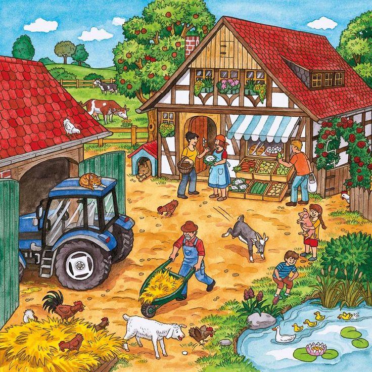 Praatplaat werken op de boerderij