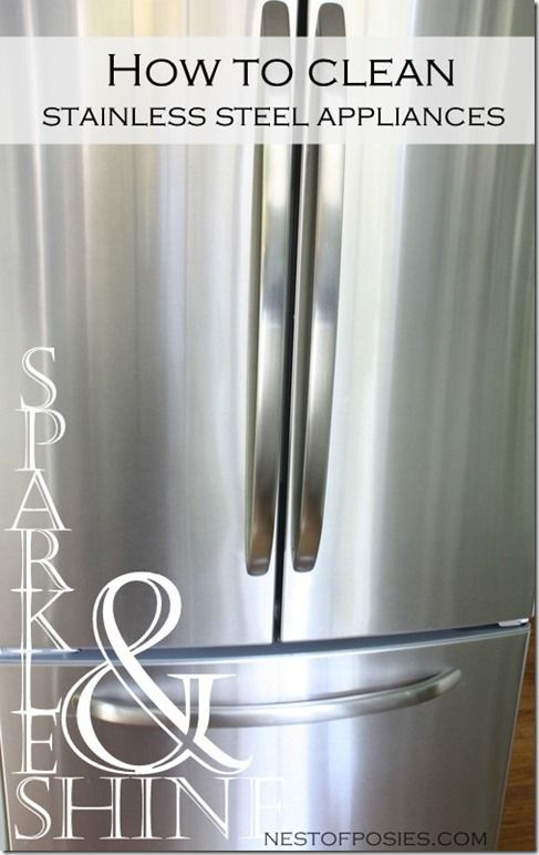 how to clean stainless steel appliances cleaning tips pinterest. Black Bedroom Furniture Sets. Home Design Ideas