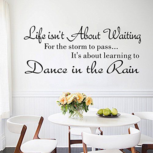 Removable Art Quote Wall Stickers Room Wall Stickers For Living Room Life  Isn T About Waiting.dance In The Rain, Removable Art Quote Wall Stickers Room  Wall ... Part 69