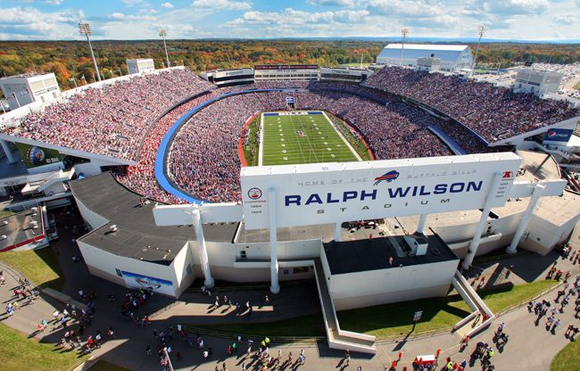 The Buffalo Bills at Ralph Wilson Stadium