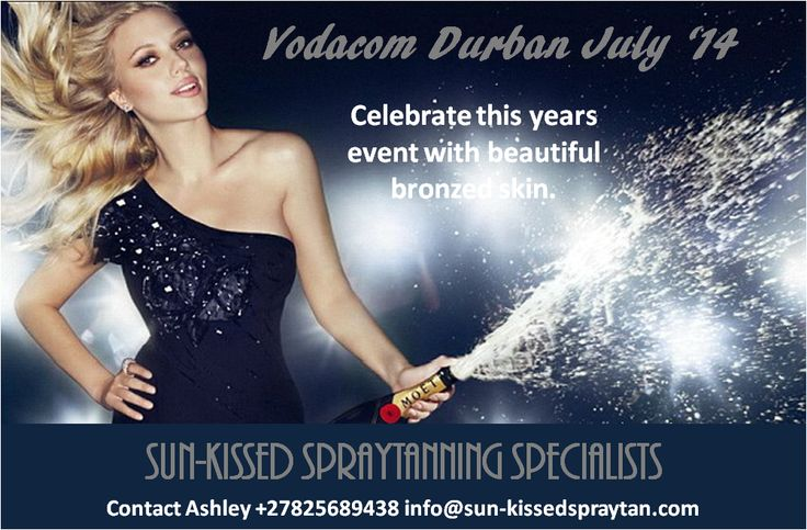 Needing a last minute tan for Saturday? Get that bronzed glow for the Vodacom Durban July. Only two more days to book