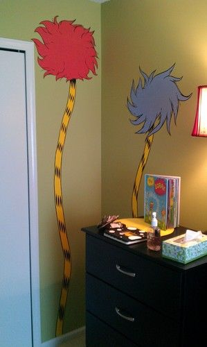 dr. seuss nursery mural - dr-seuss Photo. How freaking adorable! I love all things whoville related!