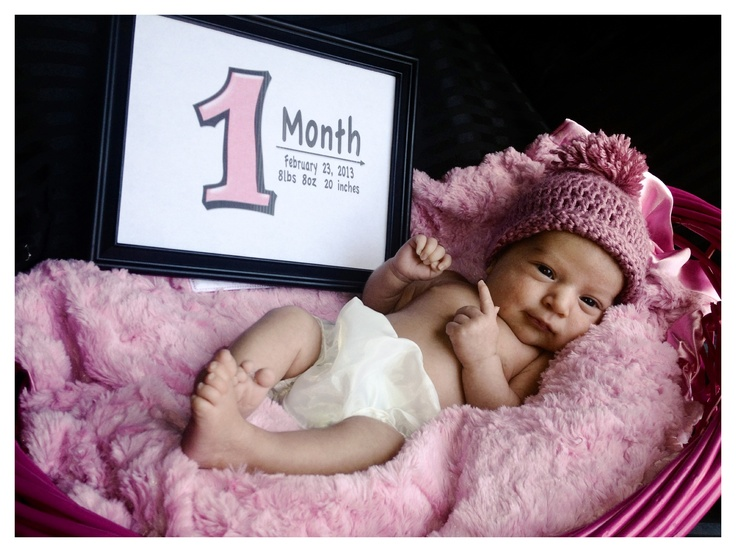 My Baby Girl 1 Month Old I Put The Current Date Weight Length