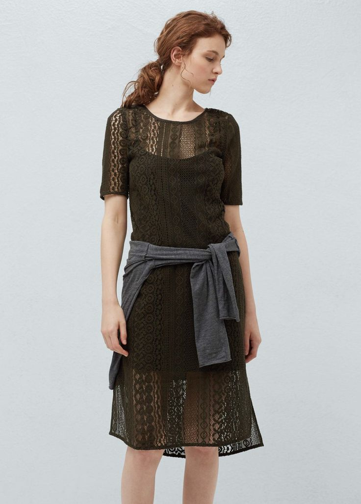 Openwork cotton dress | MANGO