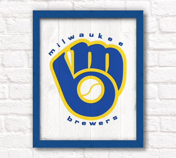 Vintage Milwaukee Brewers Rustic Home Decor Wood Sign