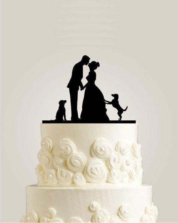 Hochzeitstorte Topper mit zwei Hunden, benutzerdefinierte Hochzeitstorte Topper, rustikale Torte Topper …   – Wedding Decorations