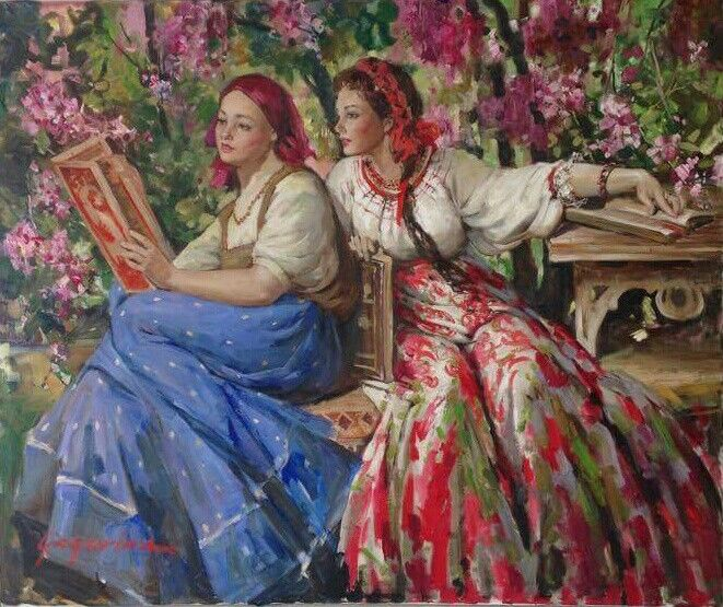 Russian spring .traditional dress