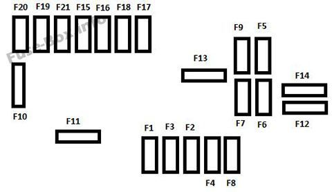 under-hood fuse box diagram: citroen ds3 (2009, 2010, 2011, 2012, 2013,  2014, 2015, 2016)