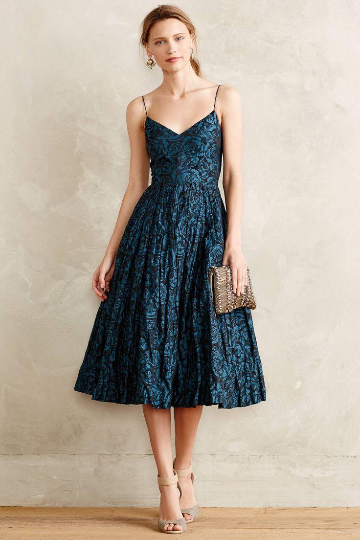 Glinted Taffeta Midi Dress