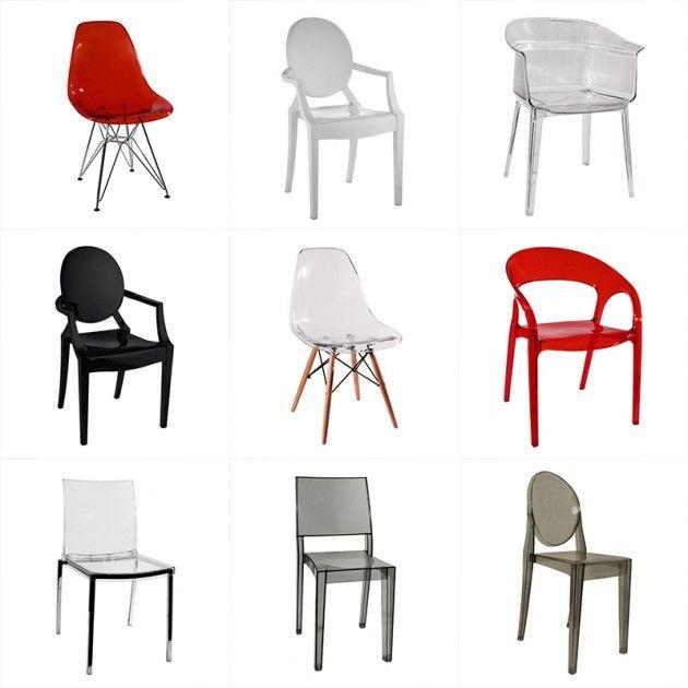 Cadeiras Para Sala De Jantar Em Bh ~  já pensou em escolher cadeiras de acrílico para sala de jantar