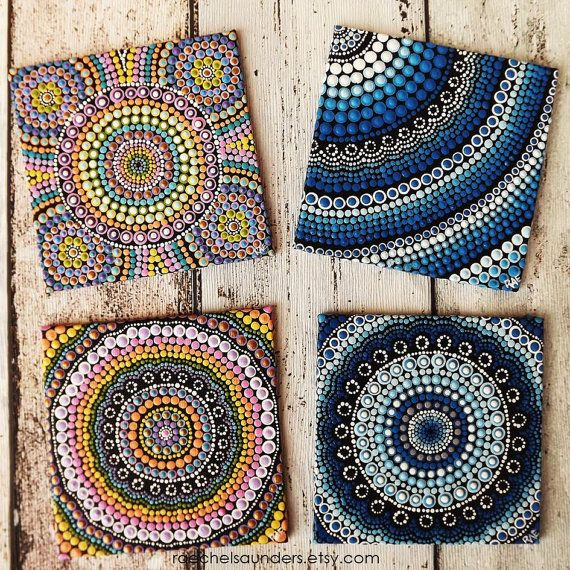 Aboriginal Dot Art Rainbow Painting Acrylic by RaechelSaunders