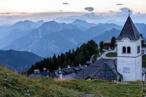 Mountain Escape. Panorama From Mount Lussari. Friuli, Italy