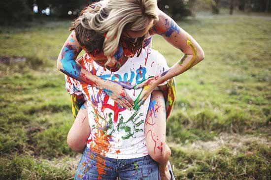 paint fight!!