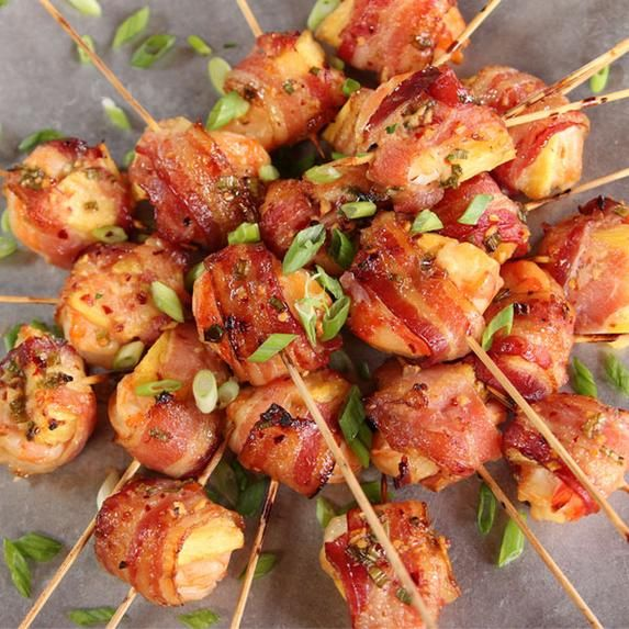 Impress your holiday guests with these Shrimp, Bacon and Pineapple Skewers from The Pioneer Woman.
