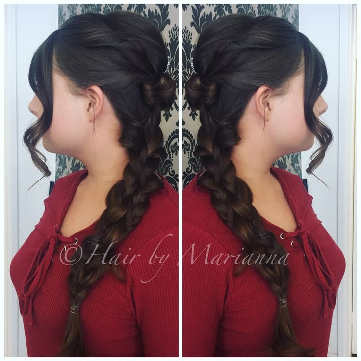 Prom hair, Dutch braid. Hair By Marianna