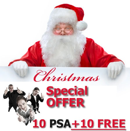 Targeted Online Advertising share - 10 PSAs GUARANTEED + 10 for FREE Christmas OFFER
