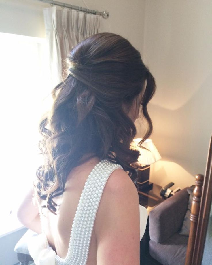 Romantic curls bridal upstyle  hair by Aisling Hamill