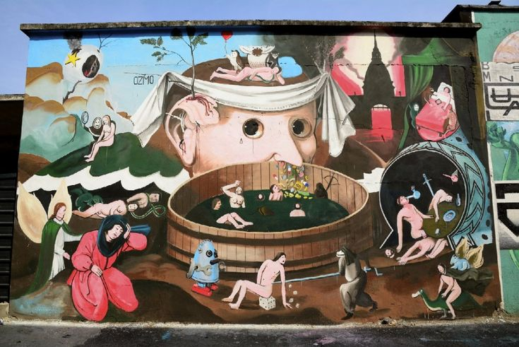 """L'arte urbana e i graffiti per un messaggio sociale. """"Urban Art Field-Mani Sporche"""" sta cambiando l'aspetto di Chivasso per sensibilizzare l'opinione pubblica contro tutte le forme di mafia. E' un progetto triennale di riqualificazione urbana, partito nell'estate, che coinvolge artisti di"""