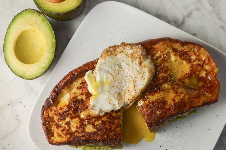 Avocado stuffed french toast