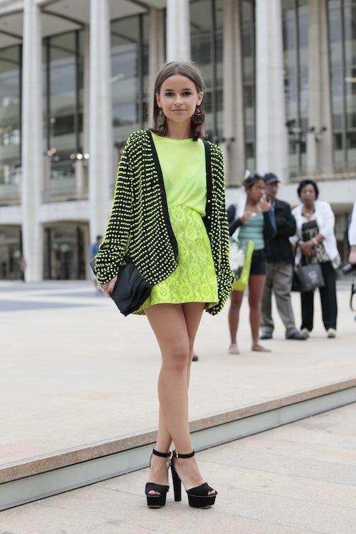 Miroslava Duma can do No Wrong in Neon Yellow