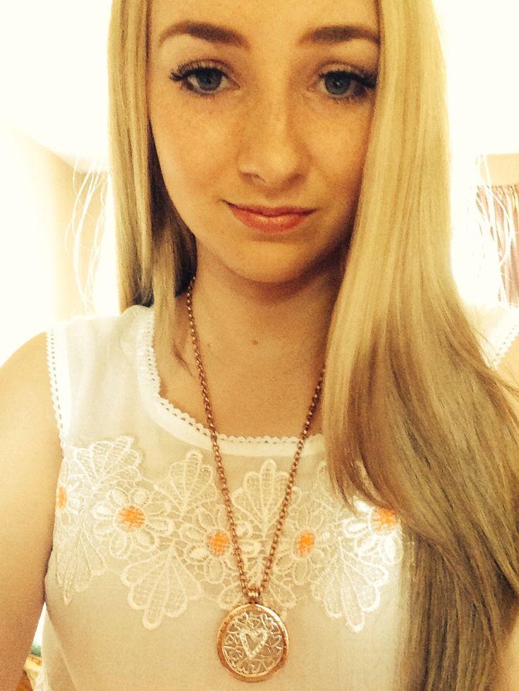 My hair. Dip dye , blonde to brown , ombré
