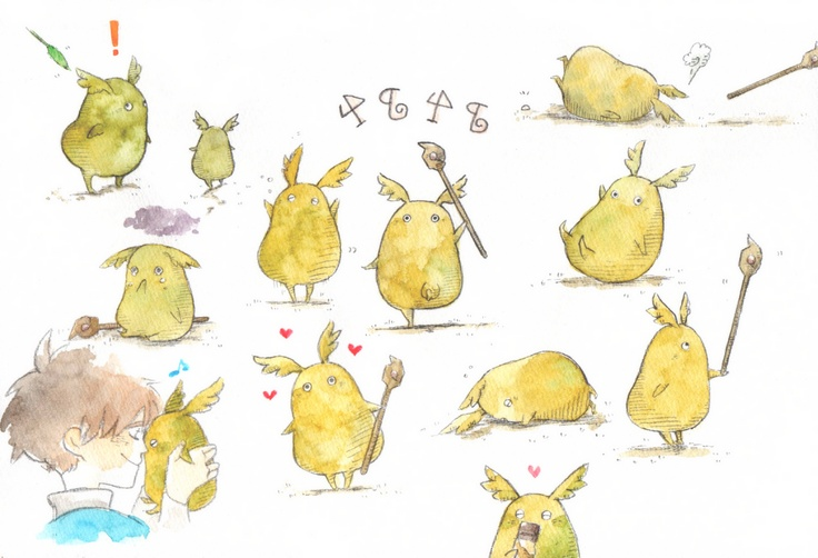 Ni No Kuni - Familiar concept art (Studio Ghibli)