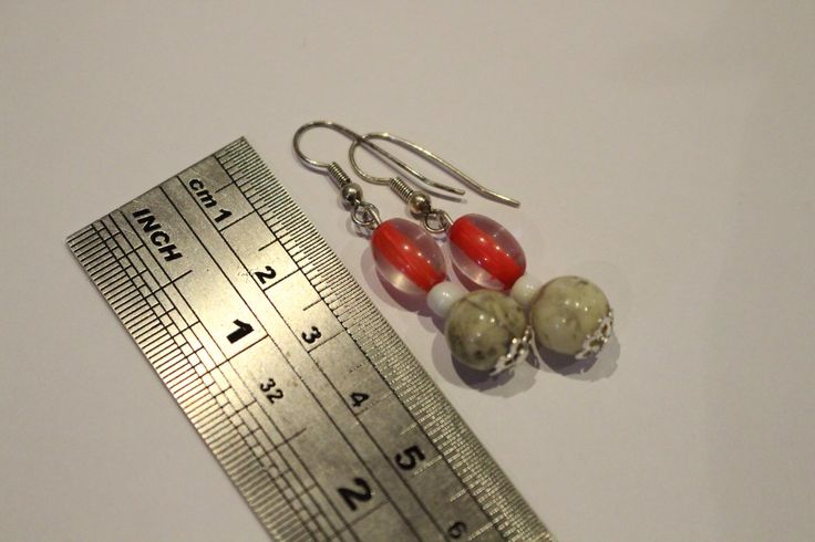 A personal favourite from my Etsy shop https://www.etsy.com/au/listing/254490303/faux-marble-earrings-with-red-beads