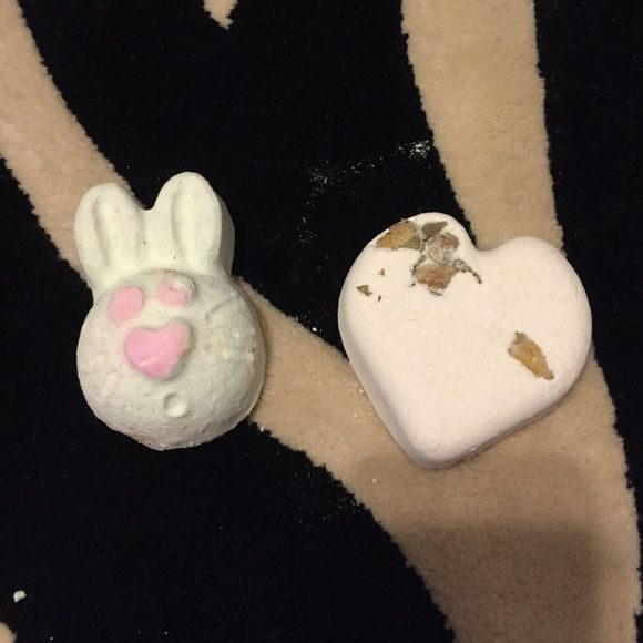 Lush Bath bombs! Easter only Hoppity Poppity and titsy totsy bath bombs! I don't have a bathtub anymore so I can't use them :( I will package as carfully as possibly but be warned about the handling post! Price is for both! Lush Other