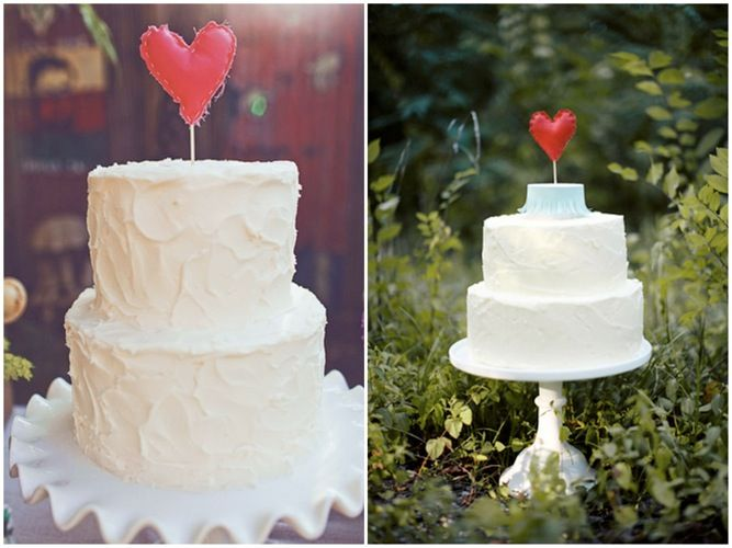 Heart Shaped Wedding Cake Toppers Would you BUY or DIY?