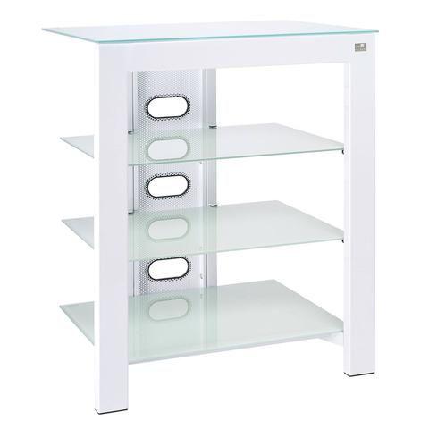 De Conti ARCA XL Large 4 Shelf Hi-Fi Stand in Arctic White (500MM Shelf Depth) - Do Good Audio