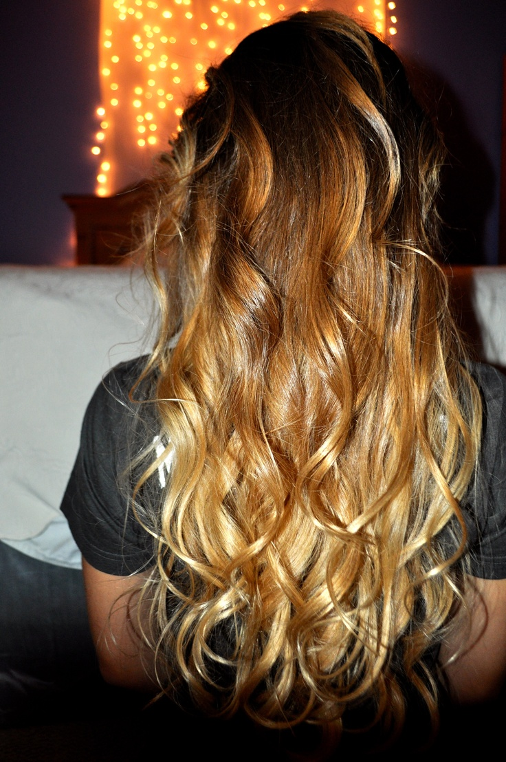 Curly soft brown blonde ombre hair pinterest - Blond braun ombre ...