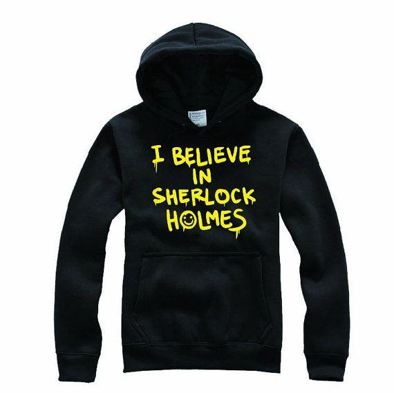 I believe in SHERLOCK holmes Funny Sweatshirt by TeeYourStyle, $23.99