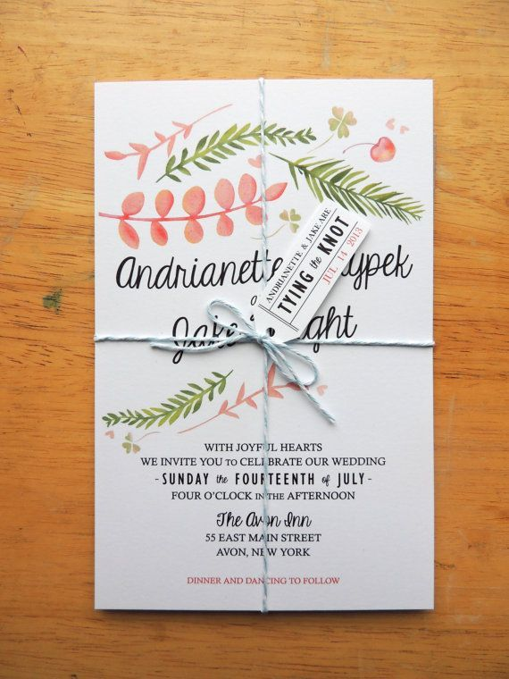 Woodland-themed invite.