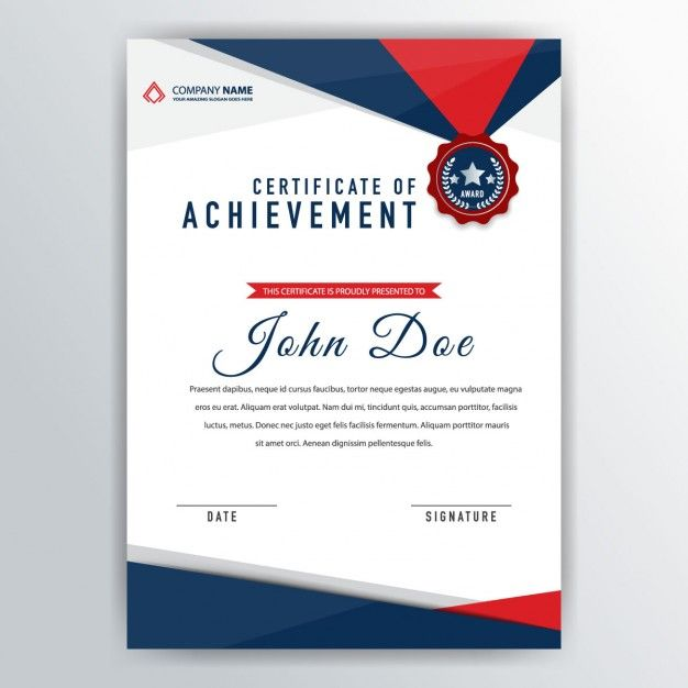 Abstract certificate template Free Vector