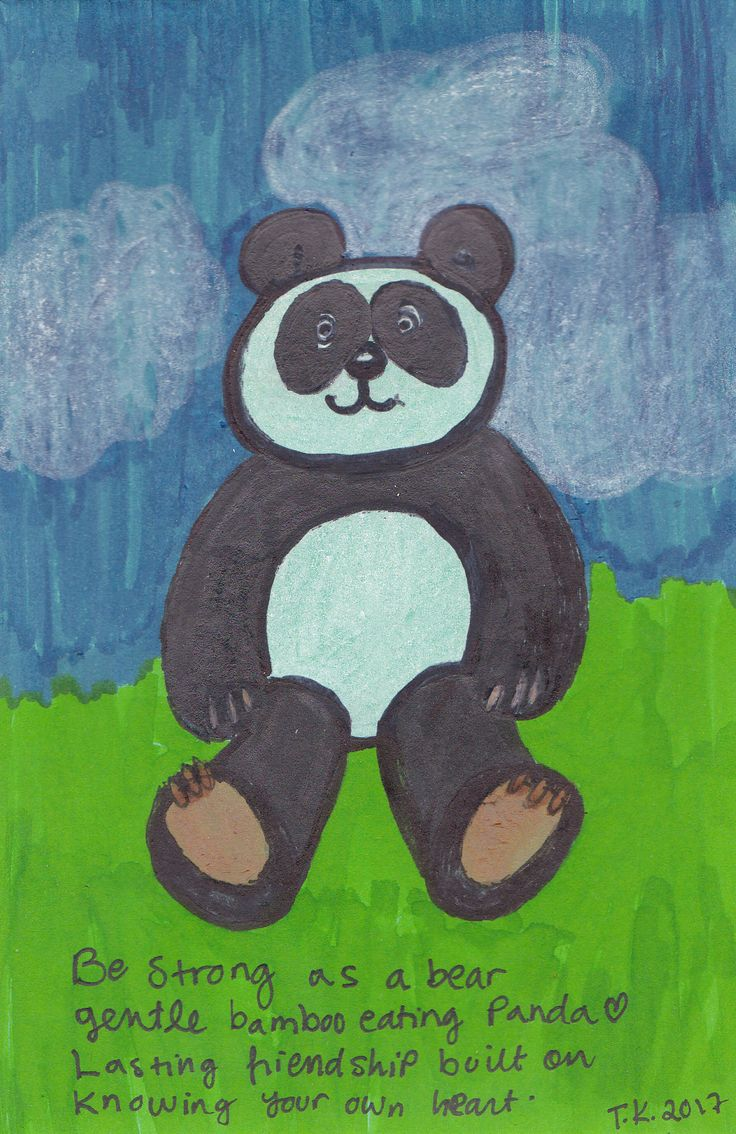 18th August, 2017 Panda drawing for Japan Mail Art Call by Club Otaku in Portugal. http://www.tiinafromfinland.com/mail-art/panda-for-japan/