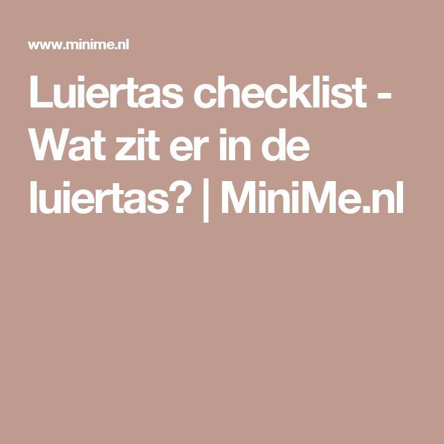 Luiertas checklist - Wat zit er in de luiertas? | MiniMe.nl