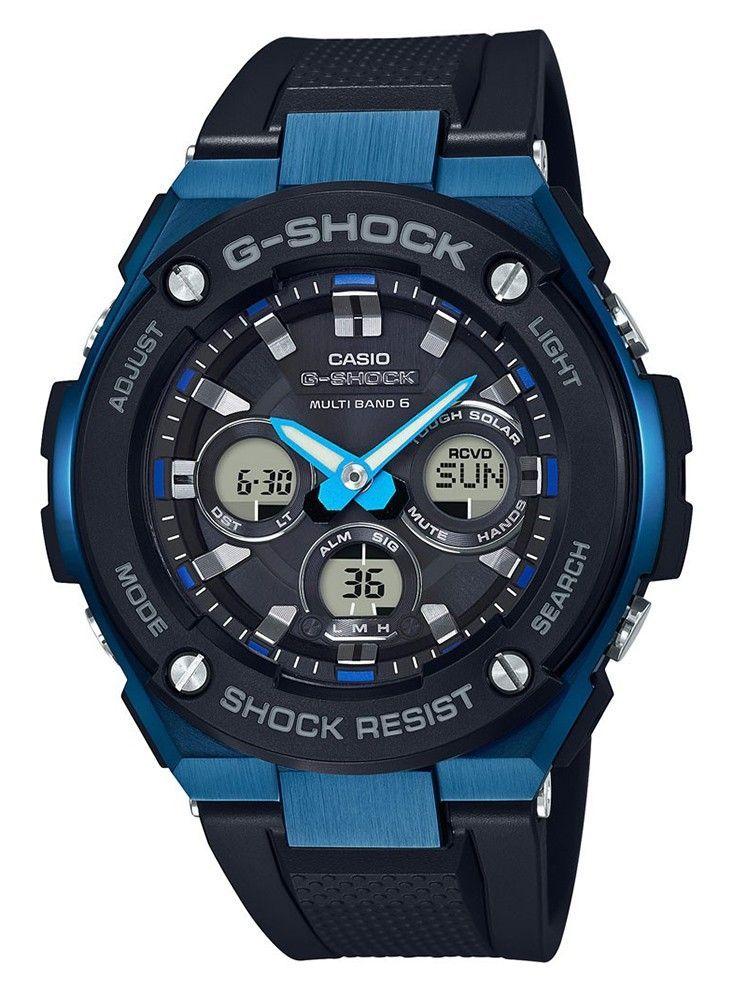 Casio G-Shock Steel GST-W300G-1A2ER Solar en Radiocontrolled. Een prachtige en stoere G-Shock. In staal en leer uitgevoerd met blauwe tinten. Dit horloge heeft alle gebruikelijke functies zoals dubbele LED-verlichting, schokbestendigheid en tot 200 meter waterdicht.