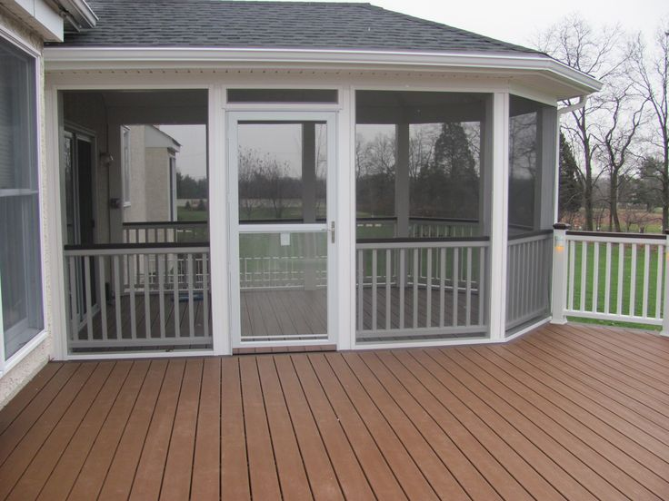 The 25 best enclosed decks ideas on pinterest patio for Sunroom and patio designs
