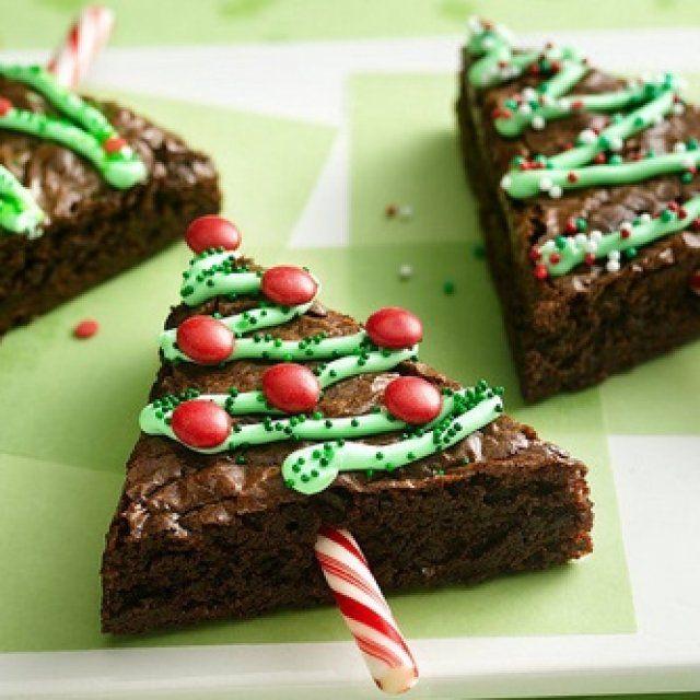 Brownies de Arbolito de Navidad
